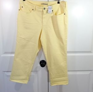 New Land's End Yellow Crop Jeans